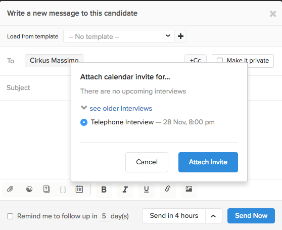 Recruiterbox help when this message comes across in the candidates email it displays as a calendar invite for their particular calendar type gmail outlook etc stopboris Choice Image